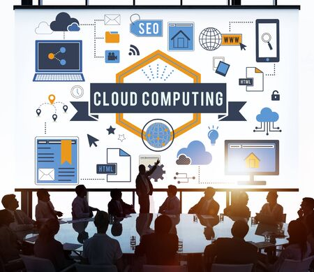 data memory: Cloud Computing Data Memory Online Concept Stock Photo