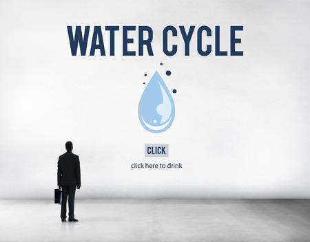 condensacion: El ciclo del agua de condensaci�n evaporaci�n Concepto Natural lluvia Foto de archivo