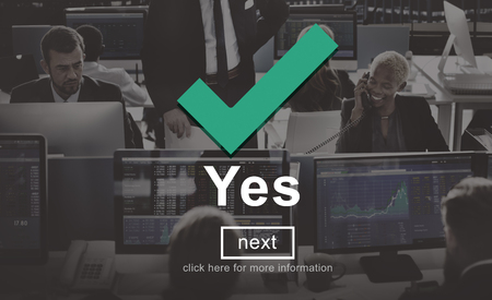 correct: Yes Correct Certainly Positive Right Concept Stock Photo