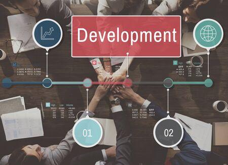 manos unidas: Crecimiento Desarrollo Progreso Icon Concept