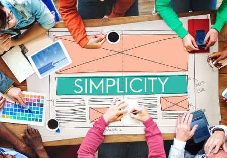 sencillez: La simplicidad Clean Clear Mínimo normal concepto simple