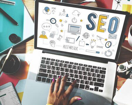 optimizing: Searching Engine Optimizing SEO Browsing Concept