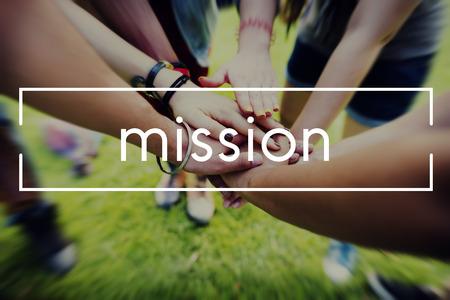 GOALS: Objetivos de la misión El trabajo en equipo concepto de Espíritu objetivo