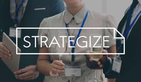strategize: Strategize Analysis Statistic Report Concept Stock Photo