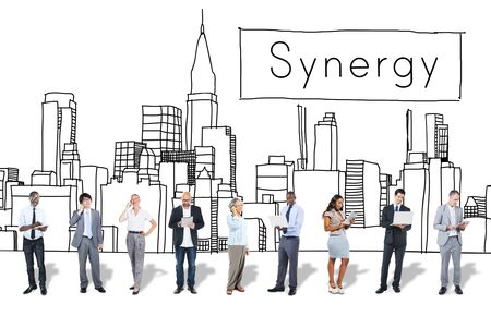 synergy: Synergy Team Interaction Organization Cooperation Concept Stock Photo