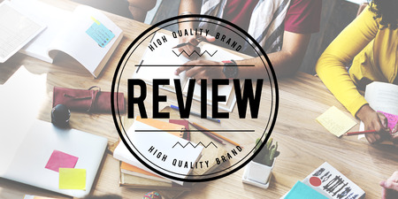 review: Review Assessment Auditing Evaluate Concept Stock Photo