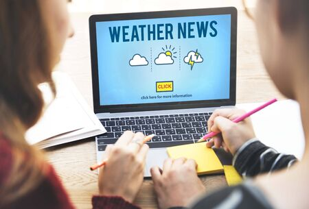 forecaster: Weather News Information Reporter Concept