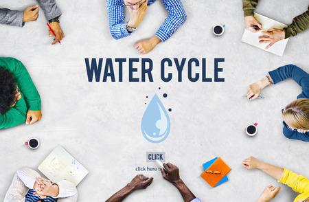 evaporacion: El ciclo del agua de condensaci�n evaporaci�n Concepto Natural lluvia Foto de archivo