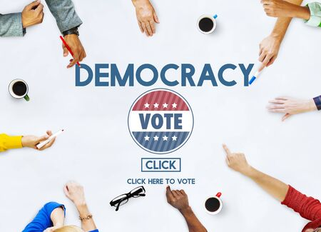 Democracy Democrats Human Rights Liberty Freedom Concept Stock Photo