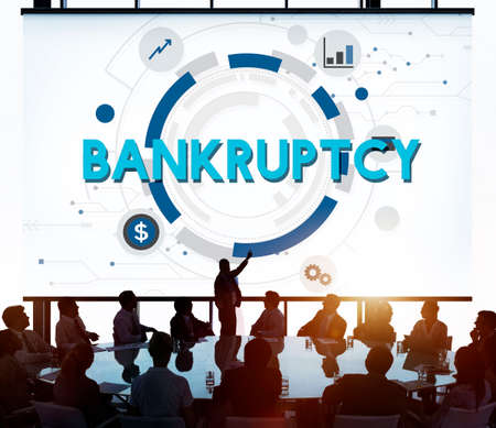 overdrawn: Bankruptcy Debt Loss Recession Financial Banking Concept