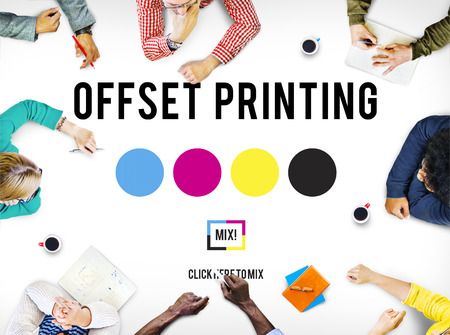 offset up: Printing Process Offset Ink Color Industry Media Concept