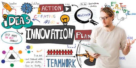 futurism: Innovation Innovate Invention Development Design Concept