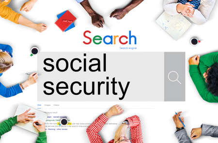 pension: Social Security Benefit Pension Welfare Retirement Concept