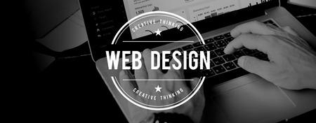 Página Web Diseño Concepto de diseño de software de Internet Foto de archivo - 57415537
