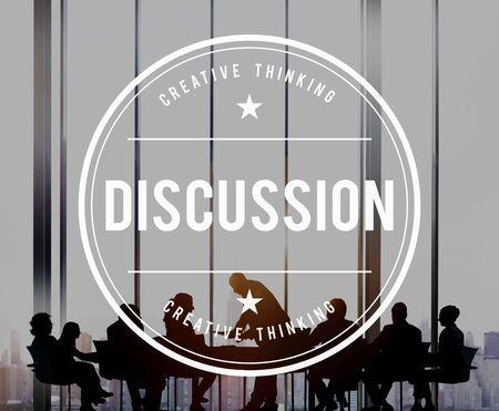 argument: Argumento Discusión Discusión Debate Negociar Concept