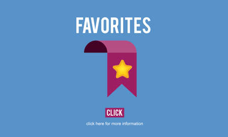 favorites: Favorites Bookmark Popular Data Technology Concept Stock Photo