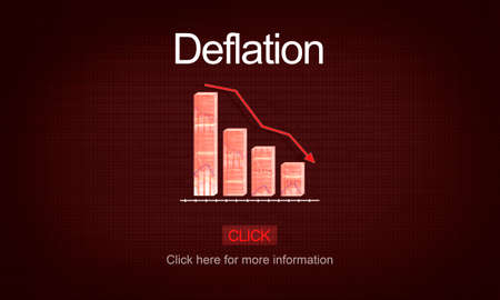 deflation: Deflation Bounce Currency Economy Financial Concept