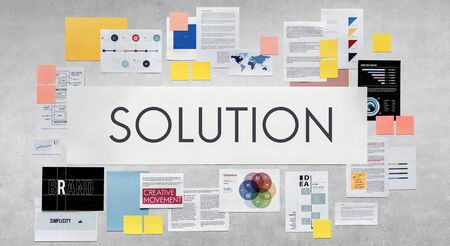 problem solution: Document Marketing Strategy Business Concept Stock Photo