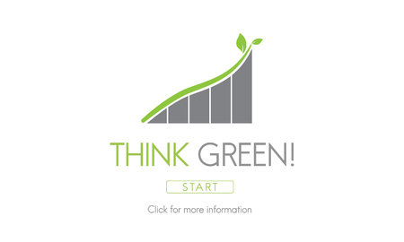 green environment: Think Green Conservation Ecology Environment Concept Stock Photo