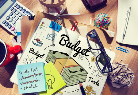 medium group of object: Budget Investment Money Financial Economy Accounting Concept