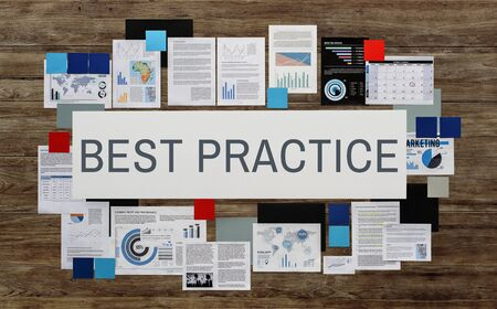 execution: Best Practice Example Execution Lesson Operation Concept Stock Photo