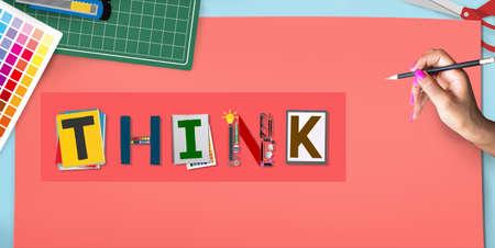 start up: Think Thinking Ideas Skill Start up Concept