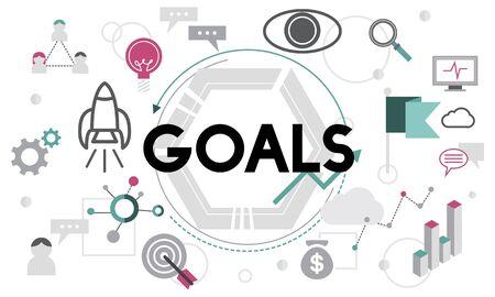 hopeful: Goals Aim Aspiration Believe Dreams Expectations Concept