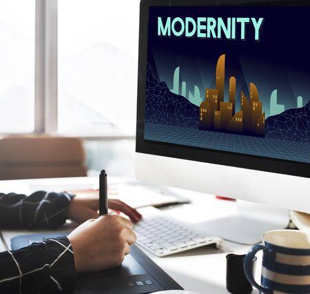 modernity: Modern Estate Modernity Skyscraper Building Concept