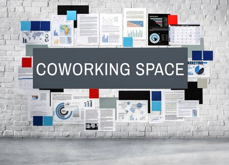 office space: Coworking Space Community Entrepreneur Office Concept