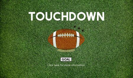 defensive: Football Touchdown Sport Graphics Concept