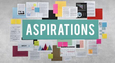 Aspiration Aspire Ambition Desire Goal Innovation Concept