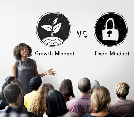 Mindset Opposite Positivity Negativity Thinking Concept Фото со стока - 57709683