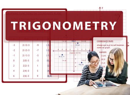 Trigonometry Mathematics Calculation Chart Concept Stock Photo