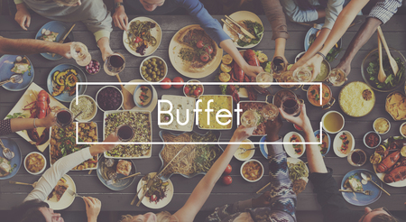 foodie: Good Food Good Mood Catering Buffet Foodie Restaurant Concept