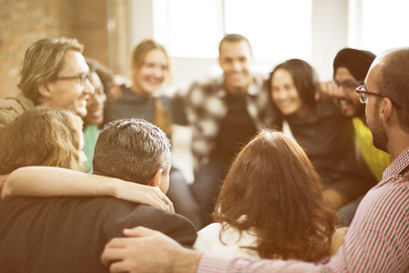 huddle: Team Huddle Harmony Togetherness Happiness Concept