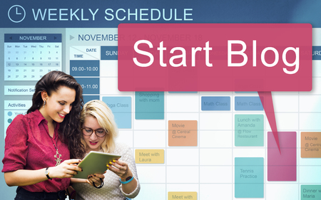Start Blog Blogging Social Media Online Concept