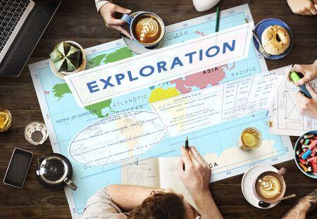 coordinates: Continents Coordinates Exploration Geological Cartography Concept