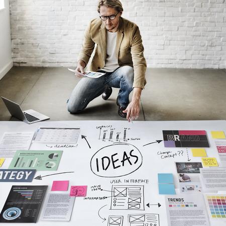 Ideas Misión Concepto Propuesta de Estrategia concepto de la visión Foto de archivo