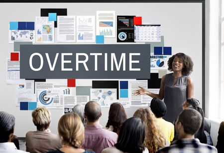 additional training: Overtime Stress Working Hours Job Late Career Concept