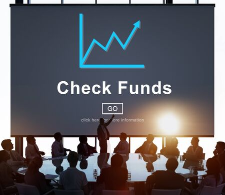 fondos negocios: Check Funds Budget Analysis Business Data Finance Concept