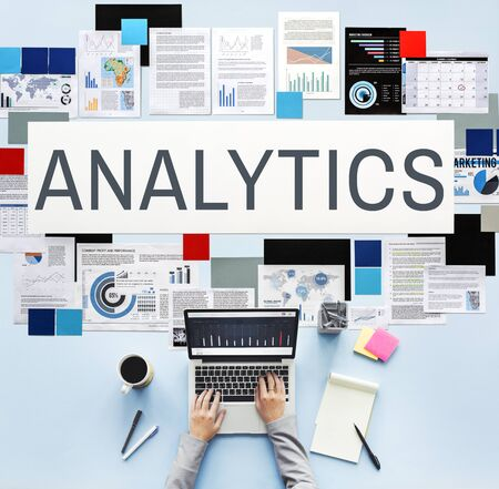 analyze: Business Analytics Statistics Analyze Concept Stock Photo