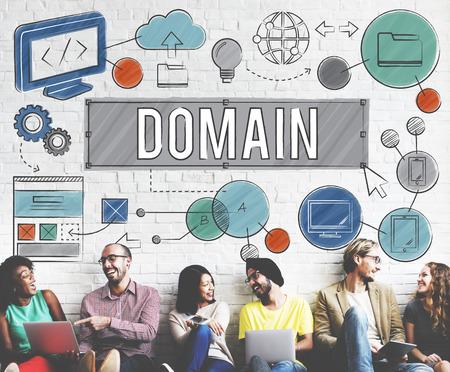 Homepage Dominio HTML Web Design Concept