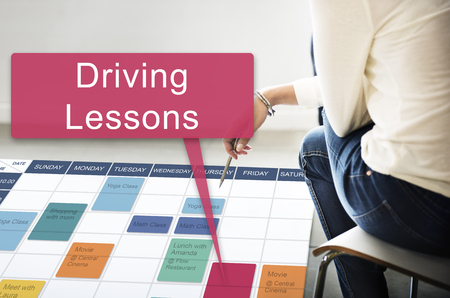 Driving Lessons Test Examination License Onderwijs Concept