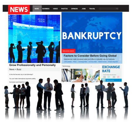 overdrawn: Bankruptcy Recession Loss Debt Money Finance Concept