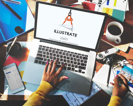 illustrate: Illustrate Create Imagination Ideas Artistic Concept