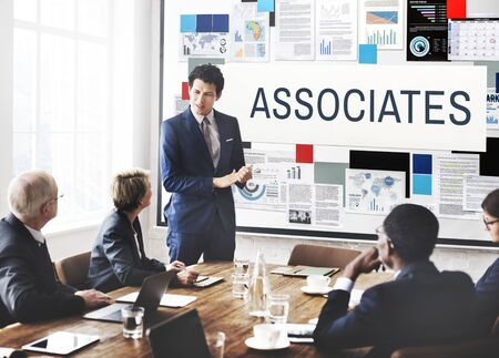 Associates Association Company Organisatie Concept Stockfoto