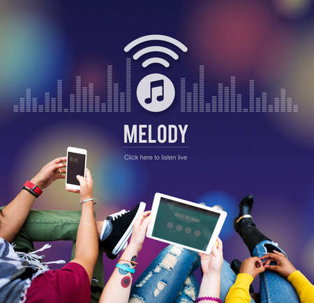 listen to music: Melody Audio Enterainment Listen Music Song Concept