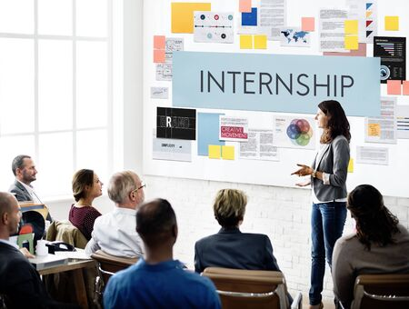 temporary: Internship Management Temporary Position Concept