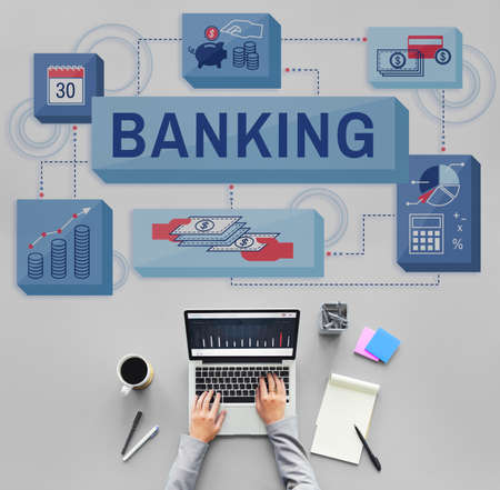 account management: Banking Saving Money Management Account Concept Stock Photo
