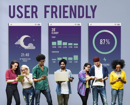 user friendly: User Friendly Mobile Interface Apps Concept Stock Photo